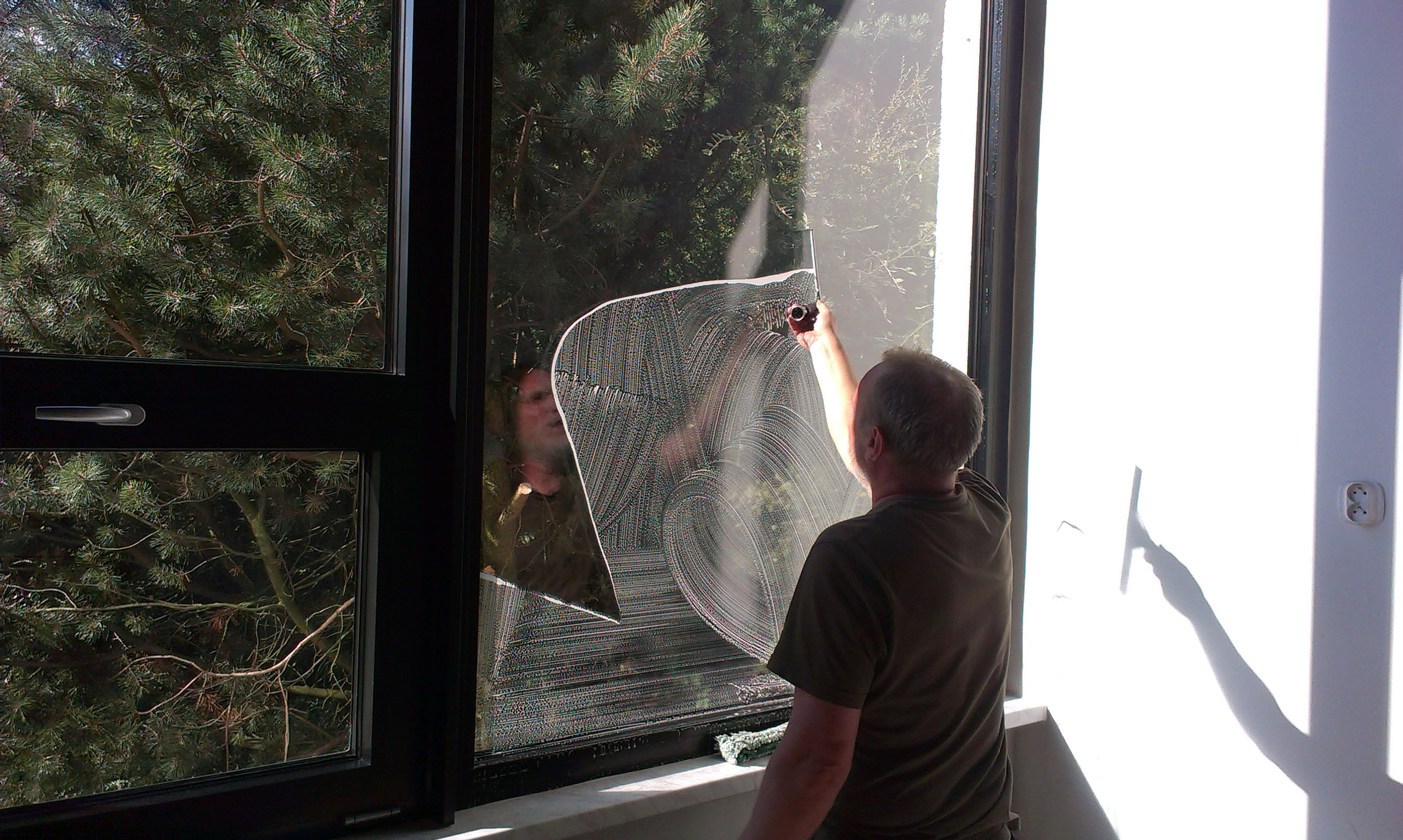 Mytí oken stěrkovou metodou Praha