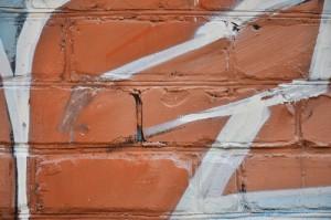 graffiti na cihlách