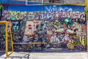 graffiti na garáži